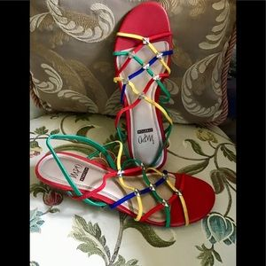 Impo stretch sandal colorful size 8 low heal ❤️